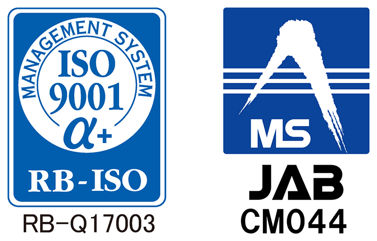MANAGEMENT SYSTEM ISO9001α+ RB-ISO RB-Q17003 MS JAB CM044